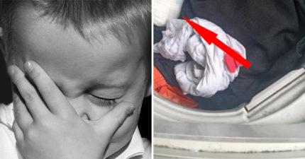 媽媽打開洗衣機驚見「白色異物」嚇壞 糊塗真相曝光…網笑翻:差點變災難片