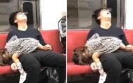 影/可憐爸帶女兒出門「上車秒關機」 旁邊「超狂睡姿」網笑:確定是親生的!