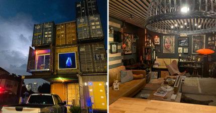 神人用11個貨櫃蓋出「70坪高級豪宅」 3層樓內裝超氣派!
