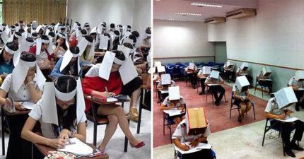 17個「荒謬到老師快瘋掉」的防作弊方法 為了公平起見…只好出動「無人機」監考!