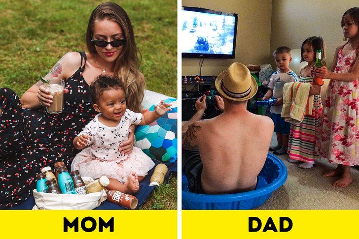 12張「爸媽真的不一樣」的爆笑育兒差異 爸爸送「18歲生日祝福」女兒傻眼:我20了!