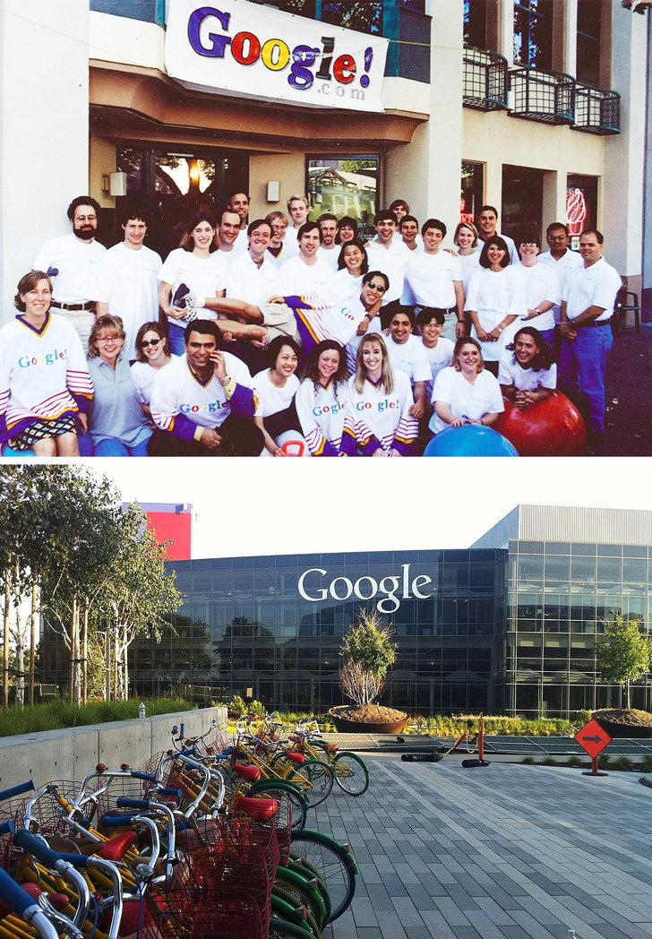 15張「帶你走過20年」的驚人對比照 Google的招牌「當時只是布條」超菜!