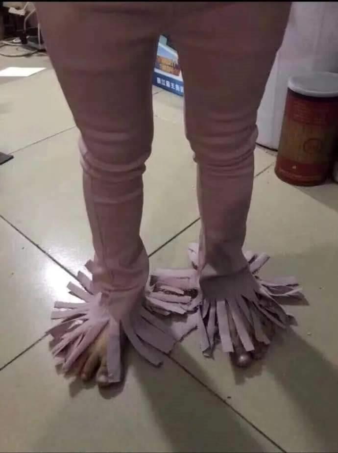 她網購「流蘇褲」想當氣場高冷女 拿到實品「超反差實體」網笑翻:是拖把!