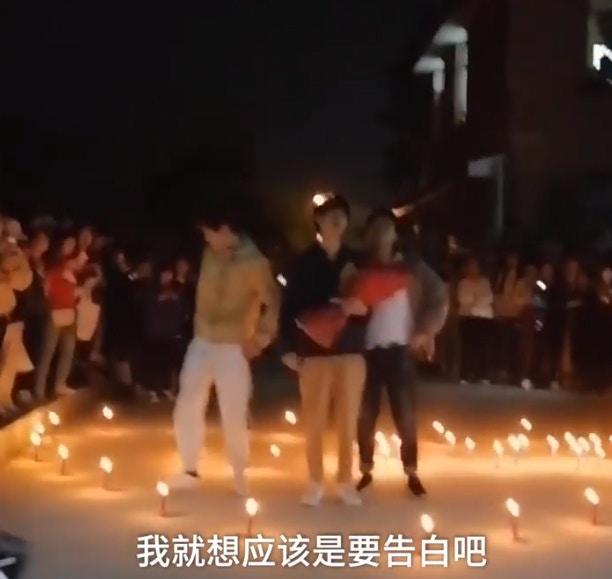 大學生準備「心形蠟燭+鮮花」驚喜告白 女主角羞現身「一句話」全場尷尬:比拒絕還慘!