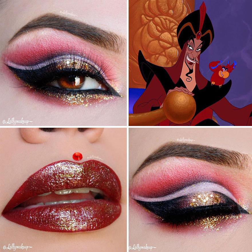 神手網美的「夢幻迪士尼」主題妝 讓「阿拉丁魔毯」飛在眼睛上!