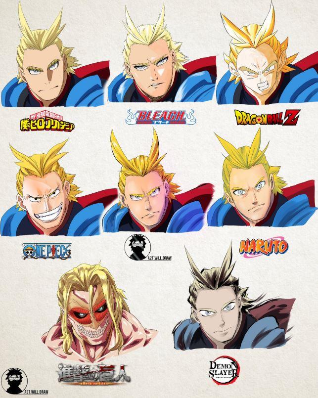 同個角色在「8種經典漫畫」會變什麼樣?L變「進擊的巨人」眼神超殺!