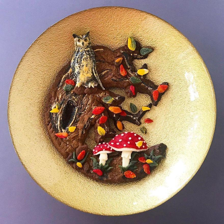 藝術家用食材做出「動物造型擺盤」 《冰雪奇緣》艾莎用義大利麵就能完成!