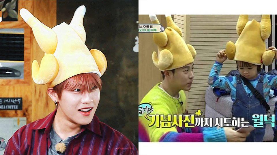 韓國瘋「烤全雞帽帽」連EXO都愛 機關按下去「雞腿發動」開始熱舞!