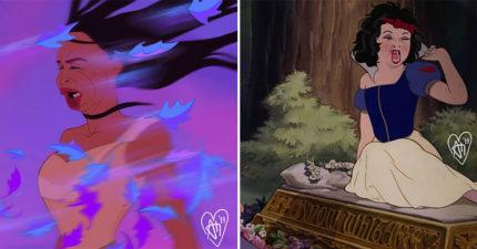 11張迪士尼公主「活在現實」的黑歷史照 文青貝兒竟有超崩壞吃相!