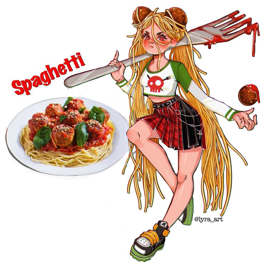 藝術家把「常見食物」變真人!好想跟珍奶少女交往