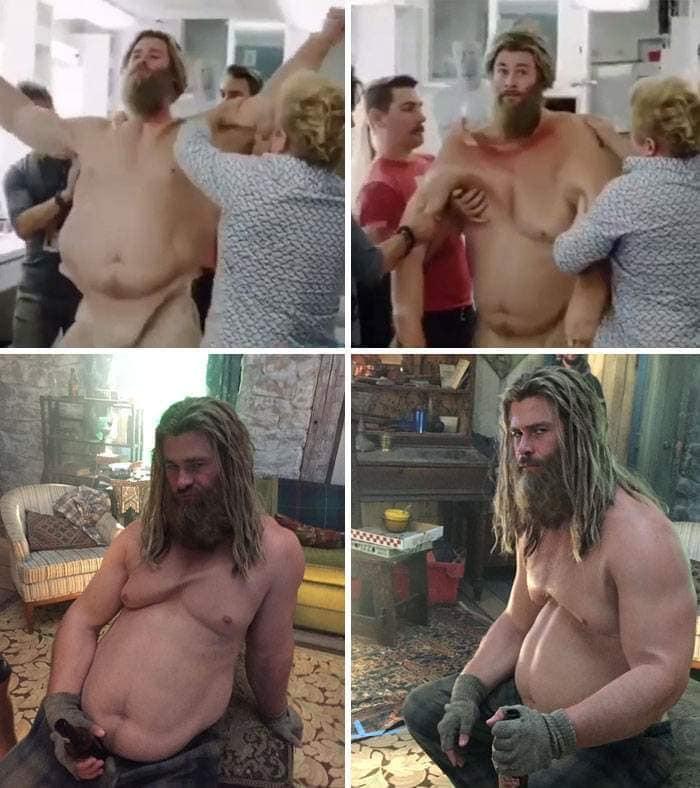 20個知名電影角色「特效化妝過程」的照片 索爾變胖「呆萌眼神」太可愛!