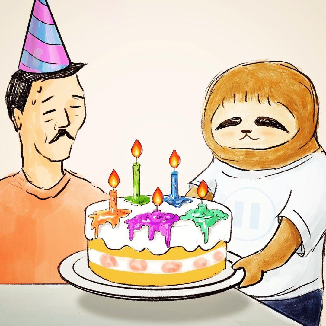 腦洞插畫家推「全新樹懶系列」被瘋傳 小雞「叫披薩外送」等到變老雞!