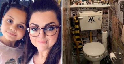 創意媽打造「哈利波特主題廁所」爆紅 用超俗價「還原電影場景」被粉絲大讚