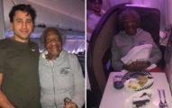 小鮮肉「讓頭等艙」給88歲腳傷阿嬤 自己改坐「廁所旁」暖心故事曝光!