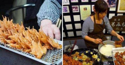 日本妹子擺攤「炸樹葉」引排隊人潮 起底「小吃超狂背景」竟有千年歷史!