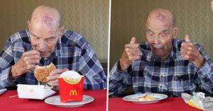 99歲老人許願想吃「從沒吃過的速食」 此生「第一個大麥克」讓他樂翻了!
