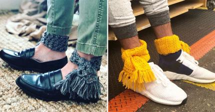 冬天最時尚單品「腳踝圍巾」爆紅!超荒謬「保暖穿搭」居然意外引潮流