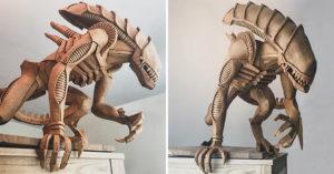 藝術家做出「能吃的」恐怖異形!曝光「超狂製作過程」還有變形金剛款