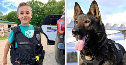 10歲男孩心疼「警犬不被保護」展開募資 籌集3百萬打造「防彈背心」給牠們!