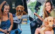 正妹帶愛犬「開貨車旅遊」玩遍全美20州 為了「完成夢想」連男友都拋棄!