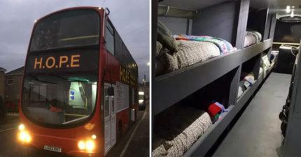 他籌集70萬把「雙層巴士→街友的家」造福12人 内部裝潢「精緻又高級」被讚爆!