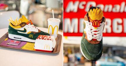麥當勞專屬「聯名復古球鞋」超可愛 美式配色「大薯鞋舌」網瘋找代購!