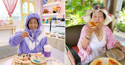 高齡「ASMR吃播奶奶」吸35萬小粉絲 82歲「邊吃邊拍」史上最療癒!