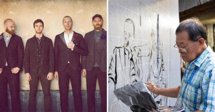 Coldplay邀「國寶畫師顏振發」參與台灣公益 義賣「賺進40萬」全捐出!