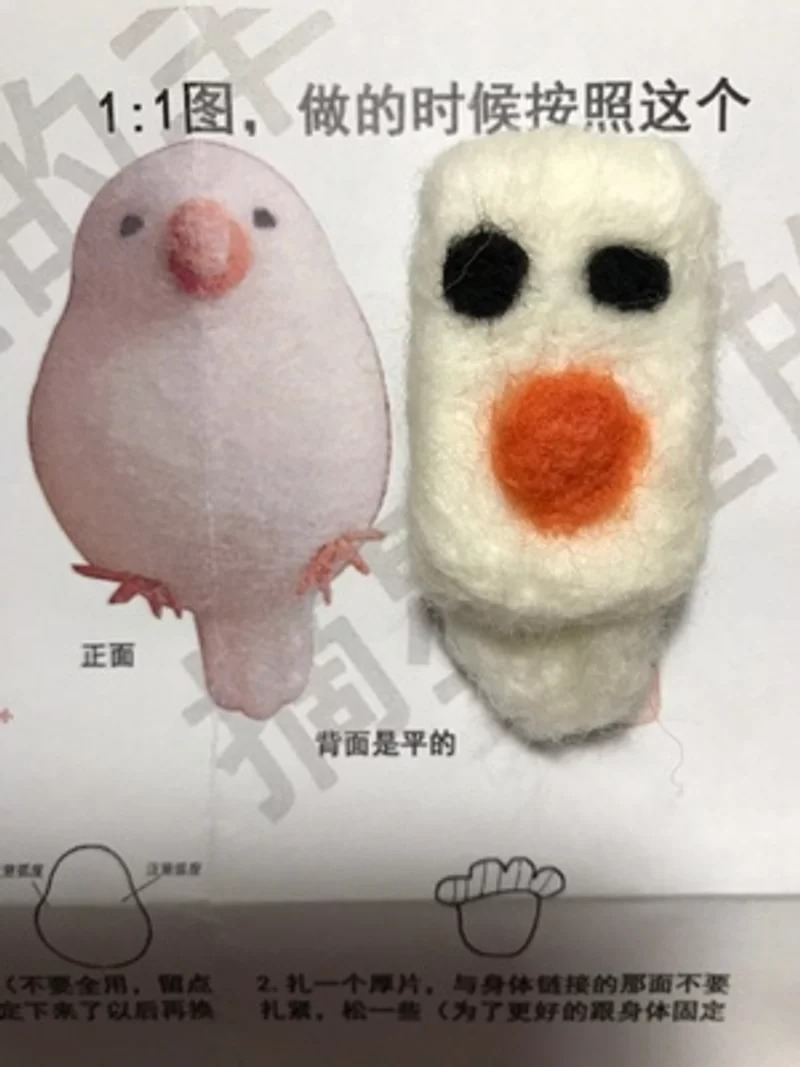 網瘋傳這款「最難做的羊毛氈」引起挑戰風潮 網友成品醜到讓人笑出來