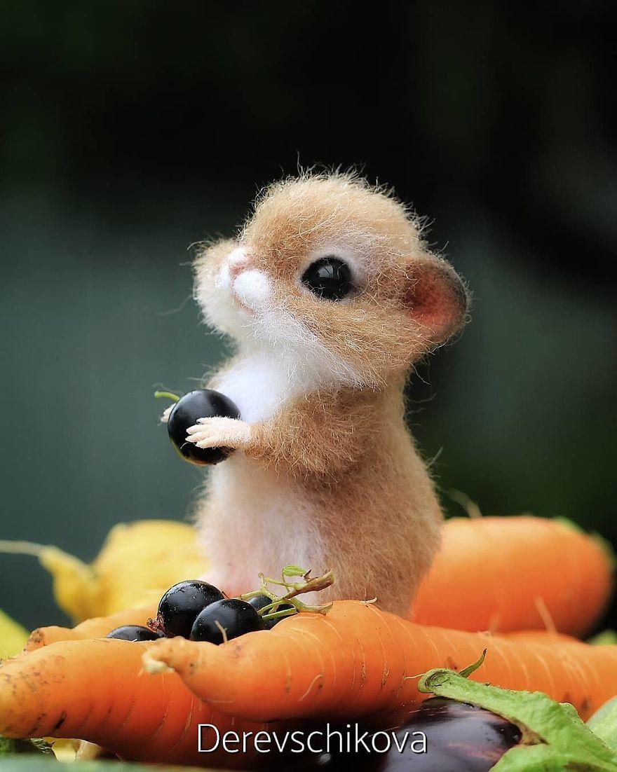 藝術家做出「超逼真羊毛氈」的可愛動物 小兔子「水汪汪大眼」讓人想抱緊處理❤