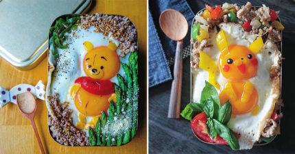 3寶媽用「2顆蛋黃」做出超完美造型便當 小熊維尼豐滿圓肚太Q啦❤