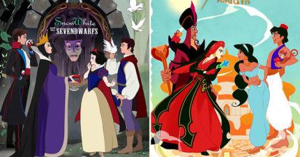繪師畫出「迪士尼角色對質」的驚險場景 超像官方畫風...還以為是新作!