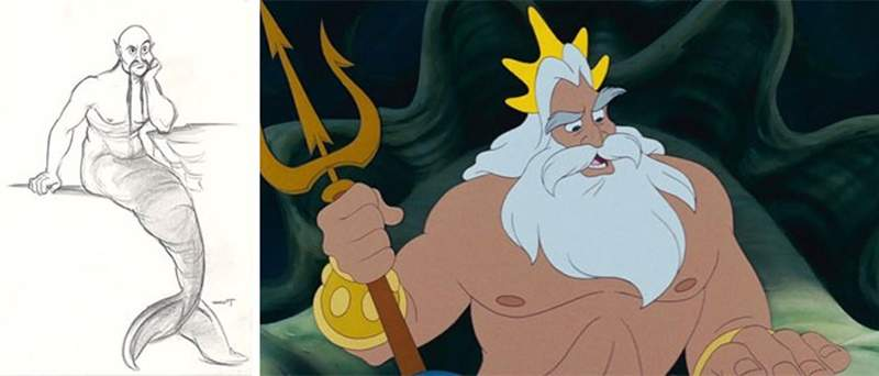 迪士尼角色「原始設計vs成品」對比圖 白雪公主原型撞臉地獄新娘!