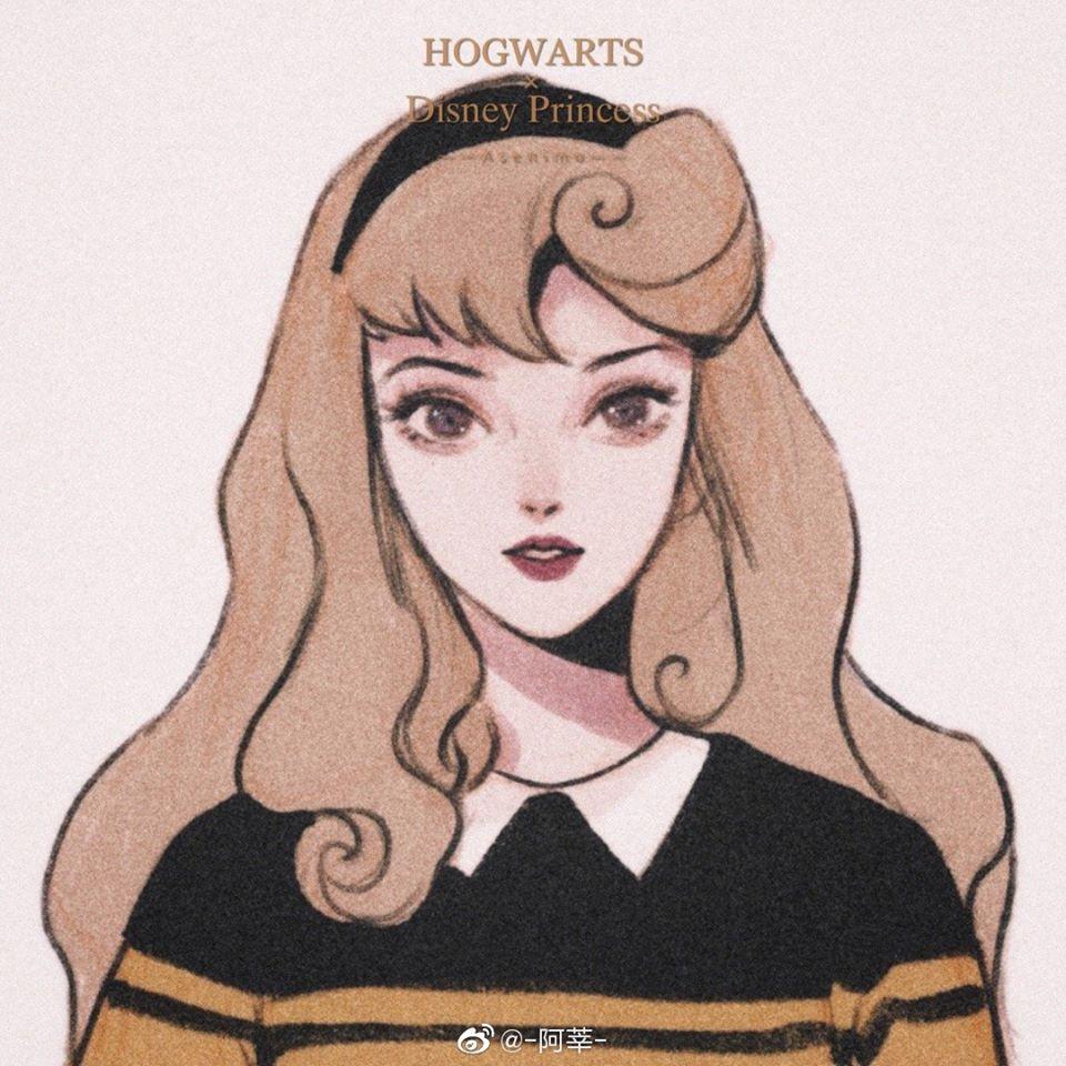 繪師畫出「迪士尼公主讀霍格華茲」的入學照 艾莎讀史來哲林更強大❤