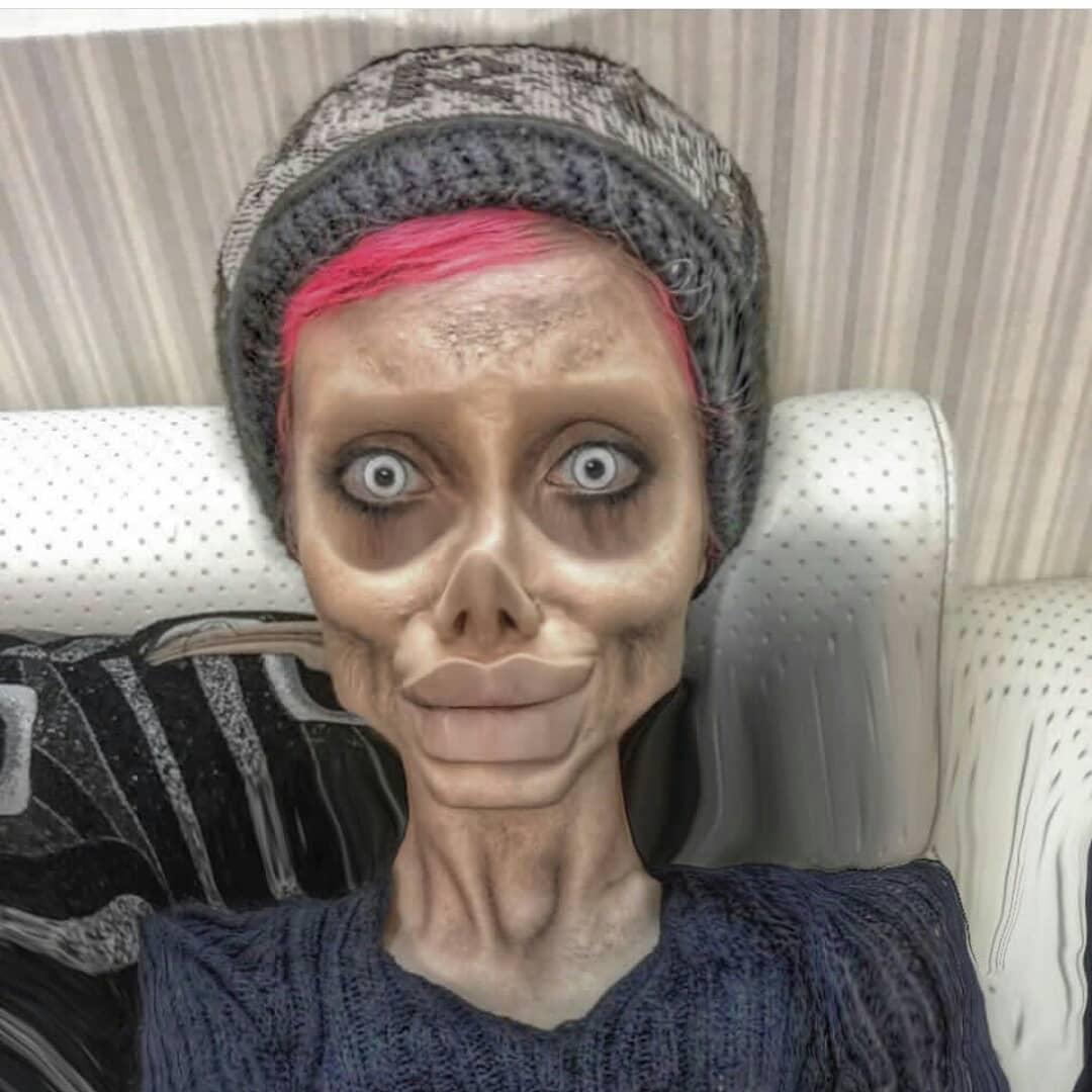 伊朗網紅整形成「喪屍版安潔莉納」爆紅 如今因網友檢舉「褻瀆神明」被捕!