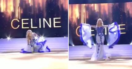 選美小姐舞台上慘跌「胸罩掉出來」 她淡定「繼續走秀」成功奪冠!