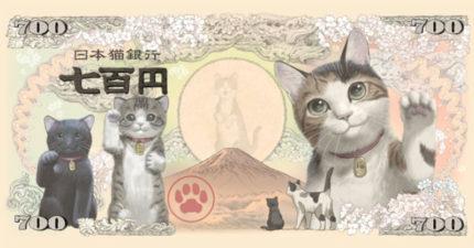 藝術家畫「招財貓日鈔」從此開始省錢 整排貓皇「招手賣萌」網跪求發行!