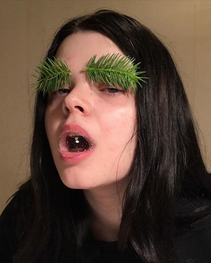 35張讓你大驚WTF的「超獵奇蔬果妝」 耳朵長花瓣意外超美!