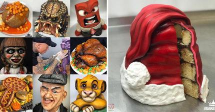 真的可以吃!藝術家做出「寫實3D蛋糕」一刀切開才發現...真的被騙了