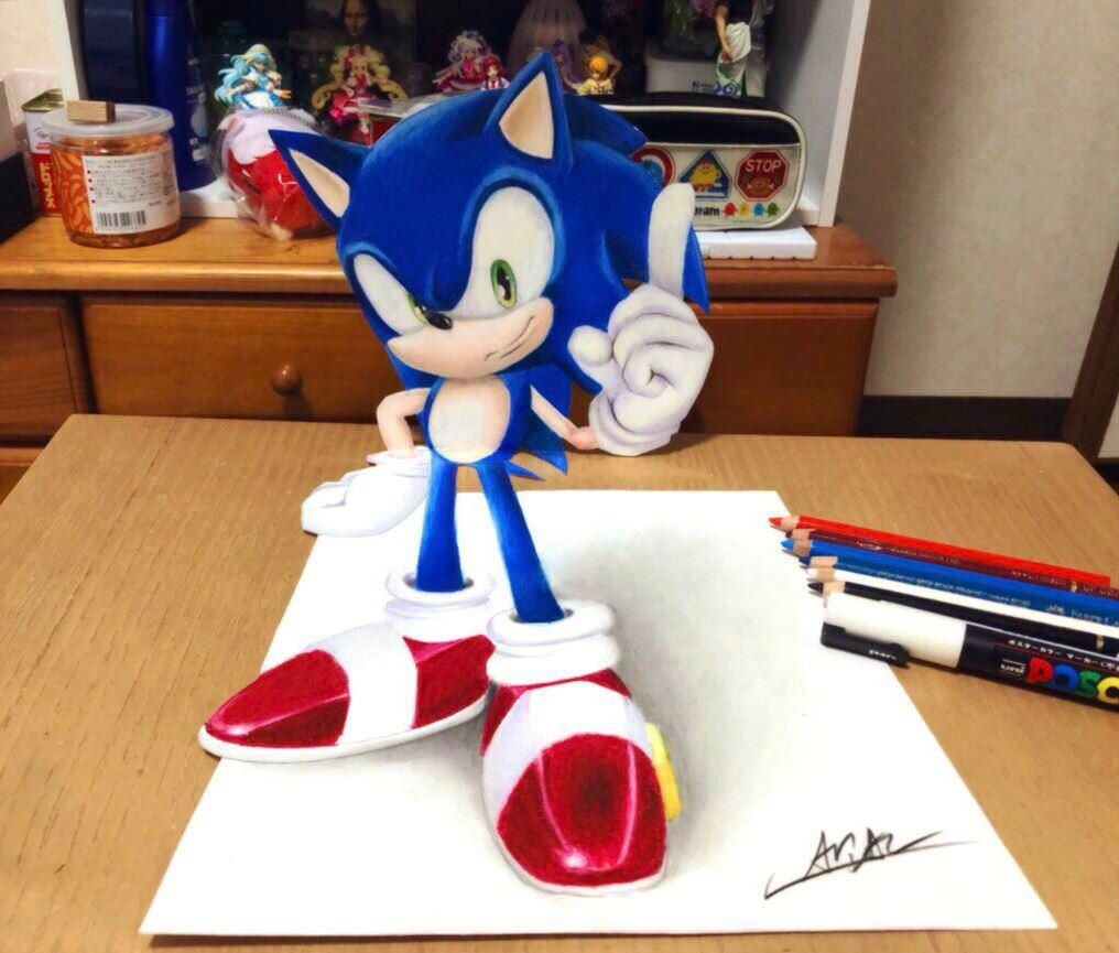 藝術家畫出「騙過上萬人眼睛」的超猛3D畫 禰豆子「從白紙裡」跳出來了!