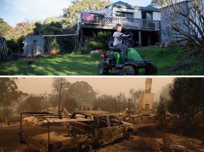 20張「澳洲野火發生前後」的殘忍對比照 攝影師拍下「灰燼中的希望」網友淚崩