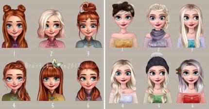 藝術家幫「迪士尼公主」換髮型!艾莎染成「漸層紫灰色」美出新高度❤