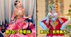 富比世公開全球「近十年賺最多歌手」TOP10 女神卡卡竟排最後?
