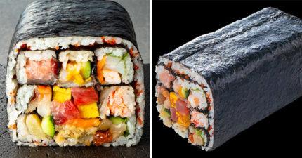 日本推出「長18公分」巨型壽司 主推一次吃到「25種美味」浮誇内容曝光!