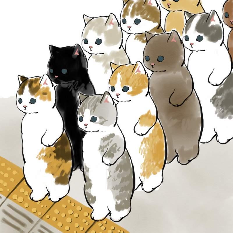 史上最萌「通勤上班貓」神還原社畜生活 毛孩「排隊上捷運」畫面超融化❤