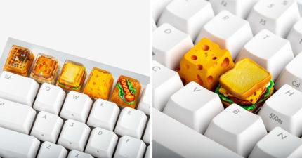 國外品牌推「擬真食物鍵帽」超夯!特殊「透明果凍設計」半夜打字超餓