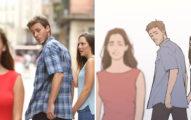 梗圖「男友偷看妹」的後續故事!超溫馨「偷看原因」女友卻心虛到眼神死