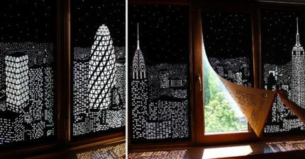 把刺眼陽光變「夢幻夜景」的賴床窗簾 還可以自選想要的城市