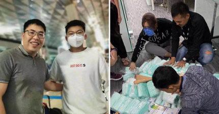 15歲少年為「幫國家對抗武肺」放棄旅遊 一人背「1.5萬口罩回鄉救命」被讚爆!