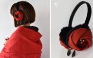 古典氣質「山茶花耳罩」搭和服超美!店家新作紙鶴頭飾仙氣噴發❤
